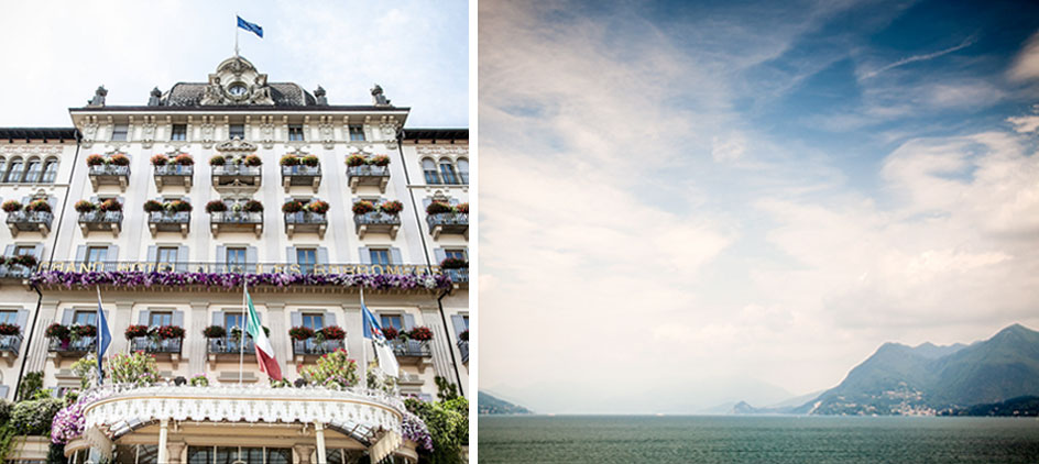 Grand Hotel des Borromees, Stresa, Italy. A romantic wedding in Italy at a historic location. Lago Maggiore, Italy. A romantic wedding in Italy.